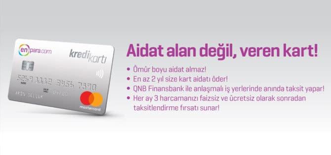 enpara kredi kartı özellikleri