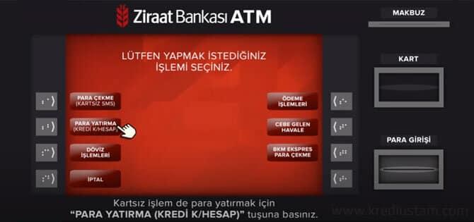 kartsız para yatırma resimli anlatım