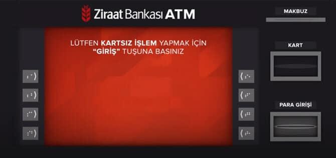 ziraat kartsız para gönderme