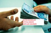 İhtiyaç Kredisi Şartları